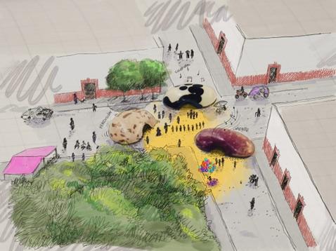Boceto de museo inflable en Papalotla, Marzo '18