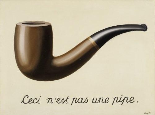 Ceci n'est pas une pipe, René Magritte, Bélgica, óleo sobre tela, 1929.